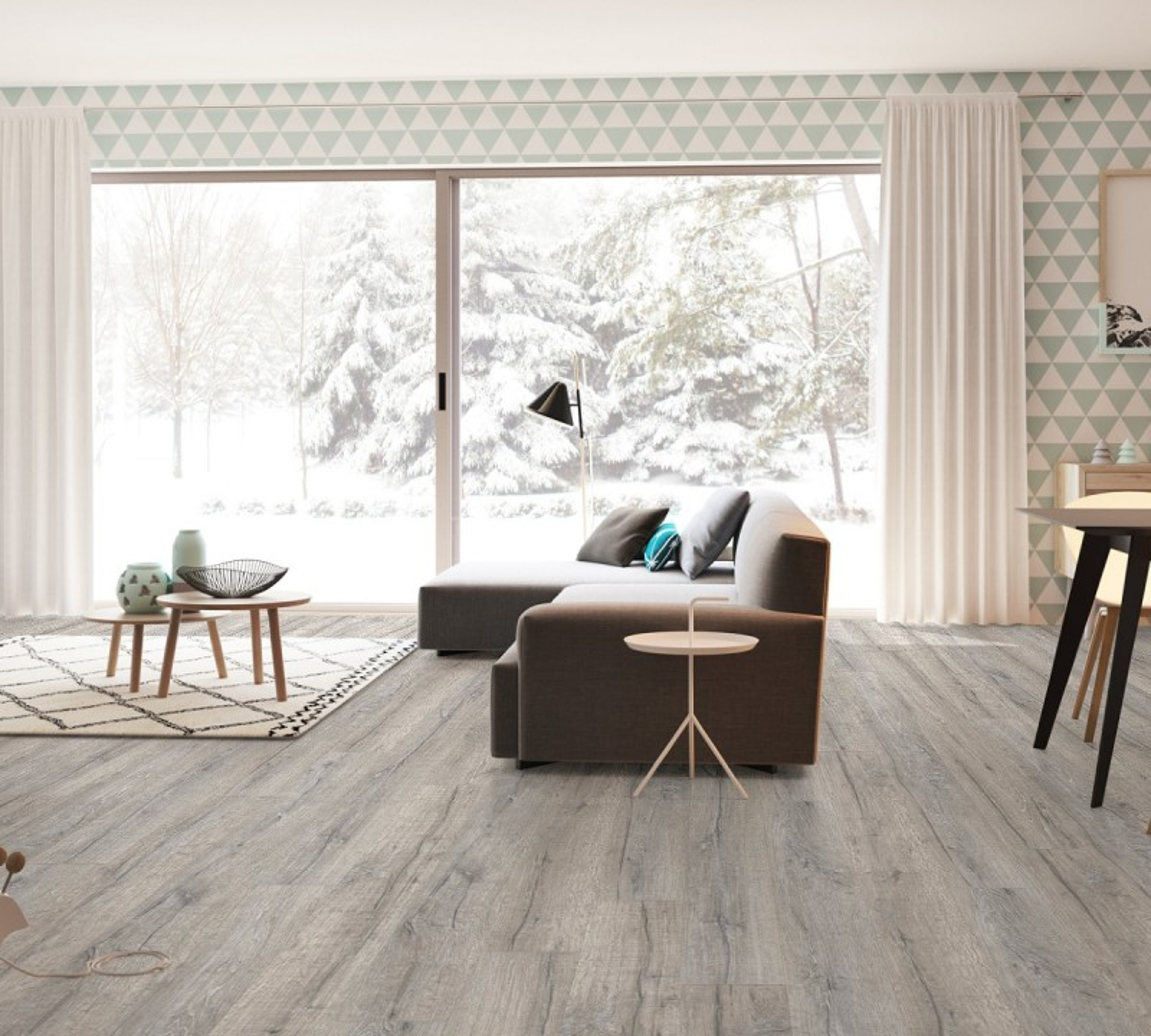 Кварцвиниловая плитка Pergo Optimum Classic Plank Glue v3201-40037 Дуб Королевский Серый (1256*187*2,5)