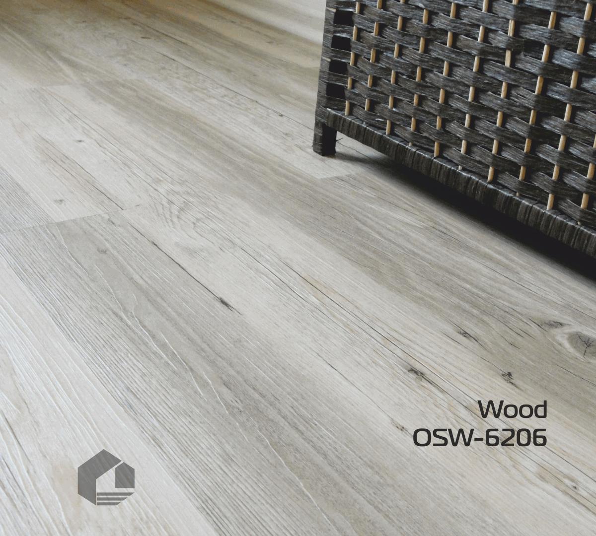 Кварцвиниловая плитка Orchid Tile Wood OSW-6206 (186*940*3 мм.)