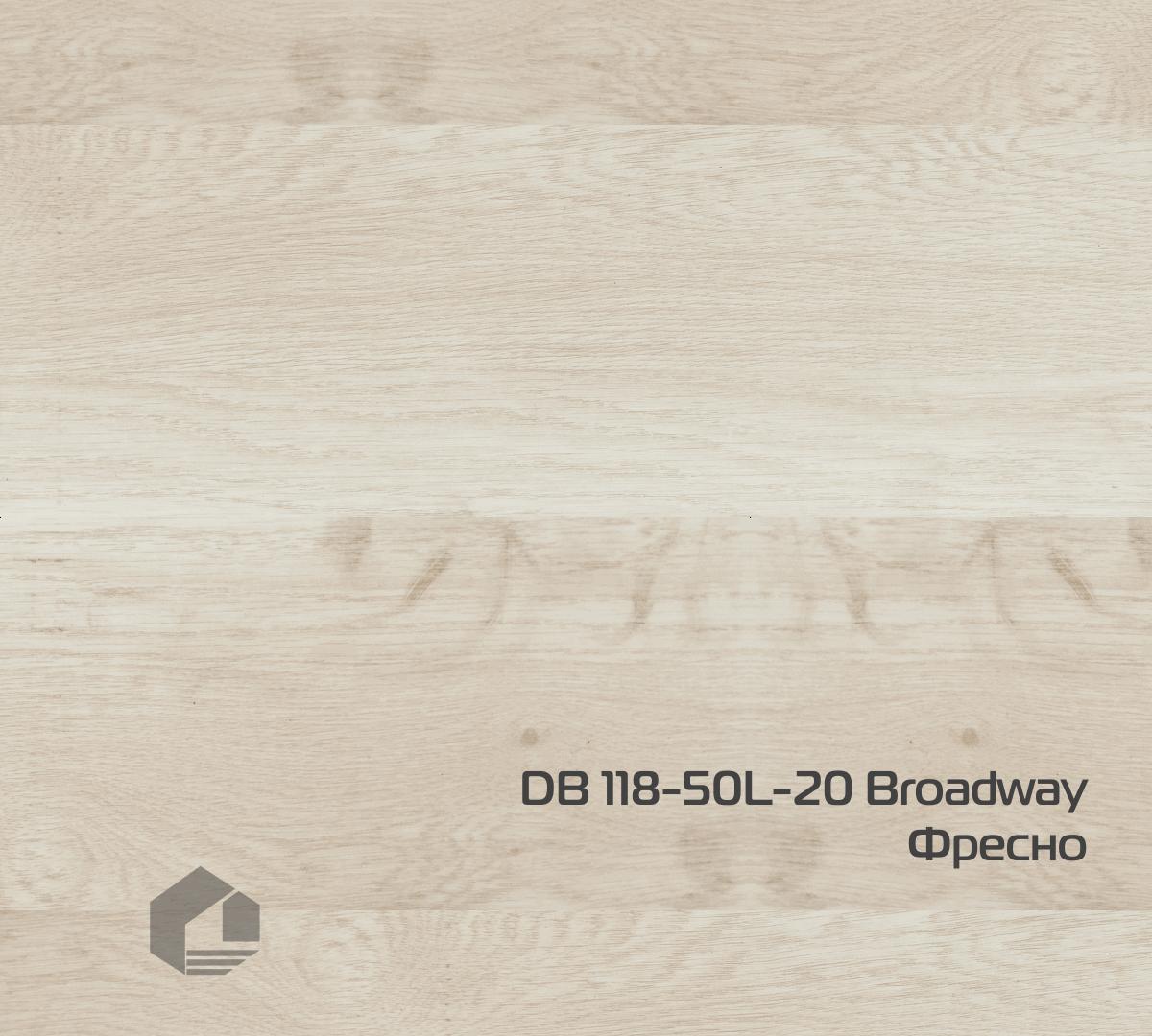 Кварцвиниловая плитка Wonderful Vinyl Floor Broadway DB 118-50L-20 Фресно