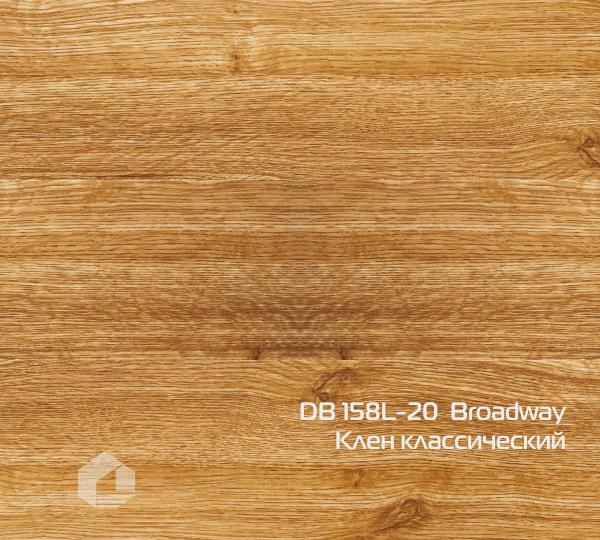 Кварцвиниловая плитка Wonderful Vinyl Floor Broadway DB 158L-20 Клен классический