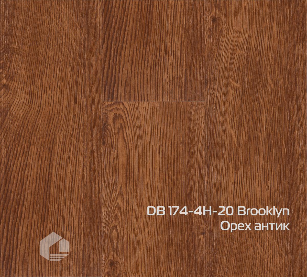 Кварцвиниловая плитка Wonderful Vinyl Floor Brooklyn DB-174-4H-20